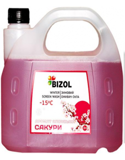 BIZOL WINTER SCREEN WASH -15C JAPANESE SAKURA 3литра