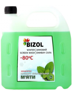 BIZOL WINTER SCREEN WASH -80C CONCENTRATE ALPINE MINT 4литра